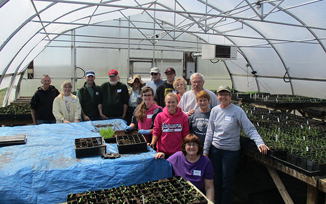 Seed Cleaning and Volunteerism at Kankakee Sands in Newton County