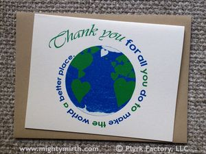 Spiritual Cartoonist Earth Day Cards
